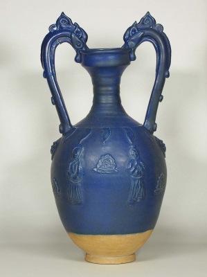 Amphora-Form Vase with Molded Design