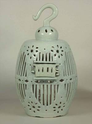 Bird Cage with Incised Script of Good Wishes Design