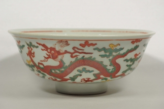 Bowl with Dragon Design