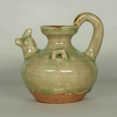 Chicken Head Ewer Water Pot with Brown Spot