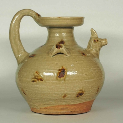 Chicken-Head Spout Ewer with Brown Spots
