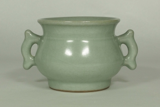 Crackled Censer with Handle