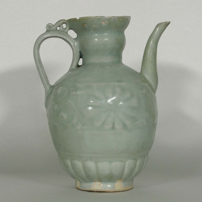 Ewer with Carved Design
