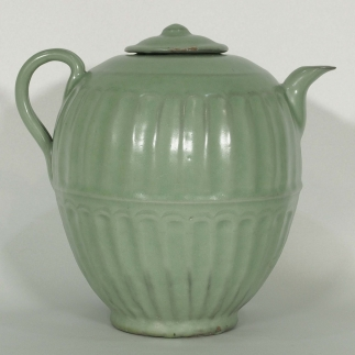 Fluted Ewer with Lid