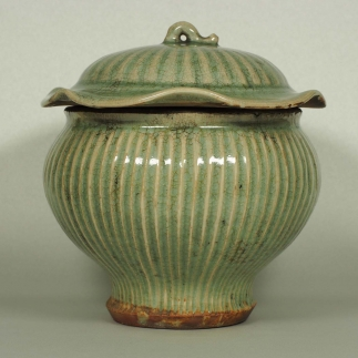 Fluted Jar with Lid