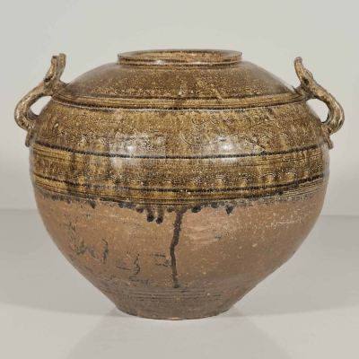 Globular Jar with Handles and Incised Design