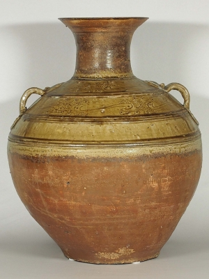 Hu-Form Jar with Incised Design