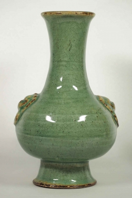 Hu-Form Vase with Lion-Head Handle