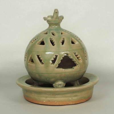 Incense Burner with Bird Top and Animal Head-Form Legs