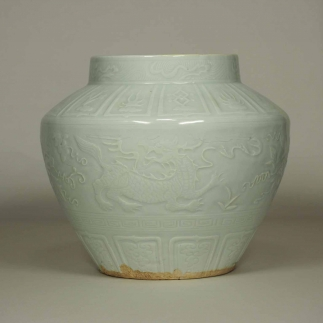 Jar with Carved Impressed Qilin Design
