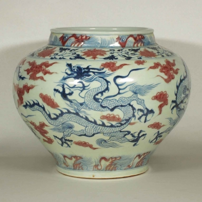 Jar with Dragon Design on Four Sides