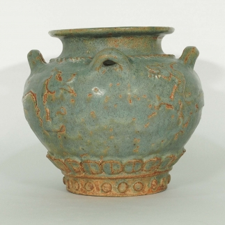 Jar with Dragon and Winged Qilin Design