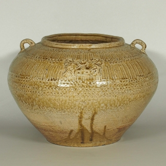 Jar with Molded Design