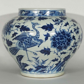 Jar with Phoenix and Peony Design
