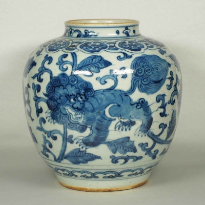 Jar with Qilin Design and 'Rabbit' Mark
