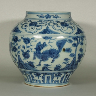 Jar with Qilin Design