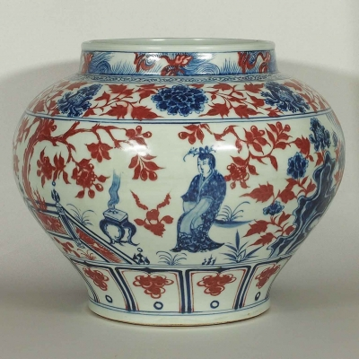 Jar with Romance of Western Chamber Scenes Design