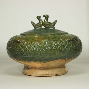 Lidded Jar with Geometric Patern
