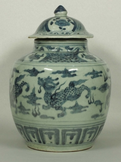 Lidded Jar with Qilin Design