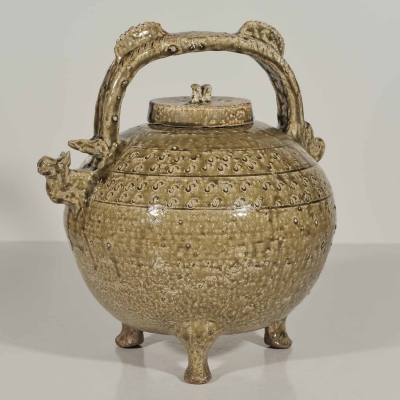 Lidded Tripod Ewer with 'S' Marks