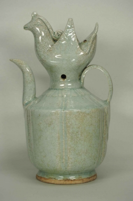 Lobbed Ewer with Phoenix Top