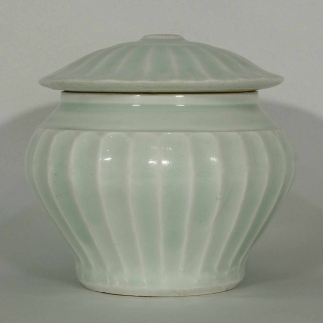 Lobed Jar with Lid