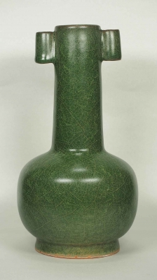 Long Neck Form Crackled Vase