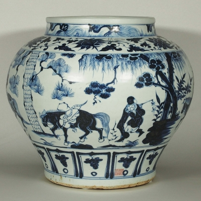 Persian Marked Jar with Wang Zhaojun Scenes Design