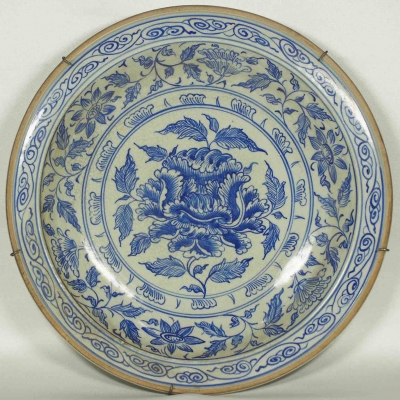 Plate with Floral scroll and Peony