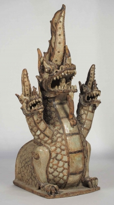 Three Head Dragon Roof Finial