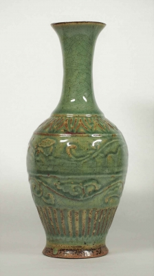 Vase with Double Leaf Scroll Design