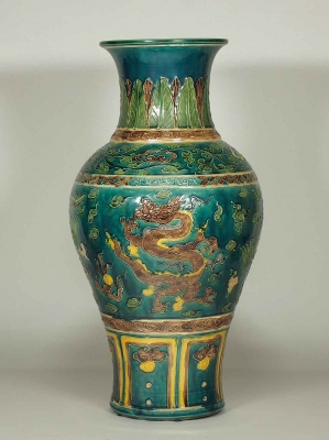 Vase with Dragon Design