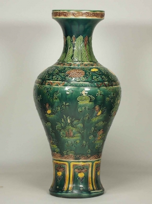 Vase with Mandarin Ducks Design
