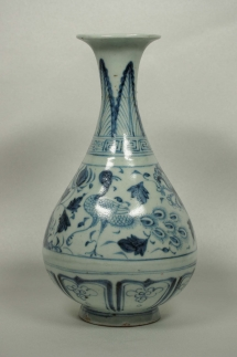 Yuhuchun Vase with Phoenix and Peony Design